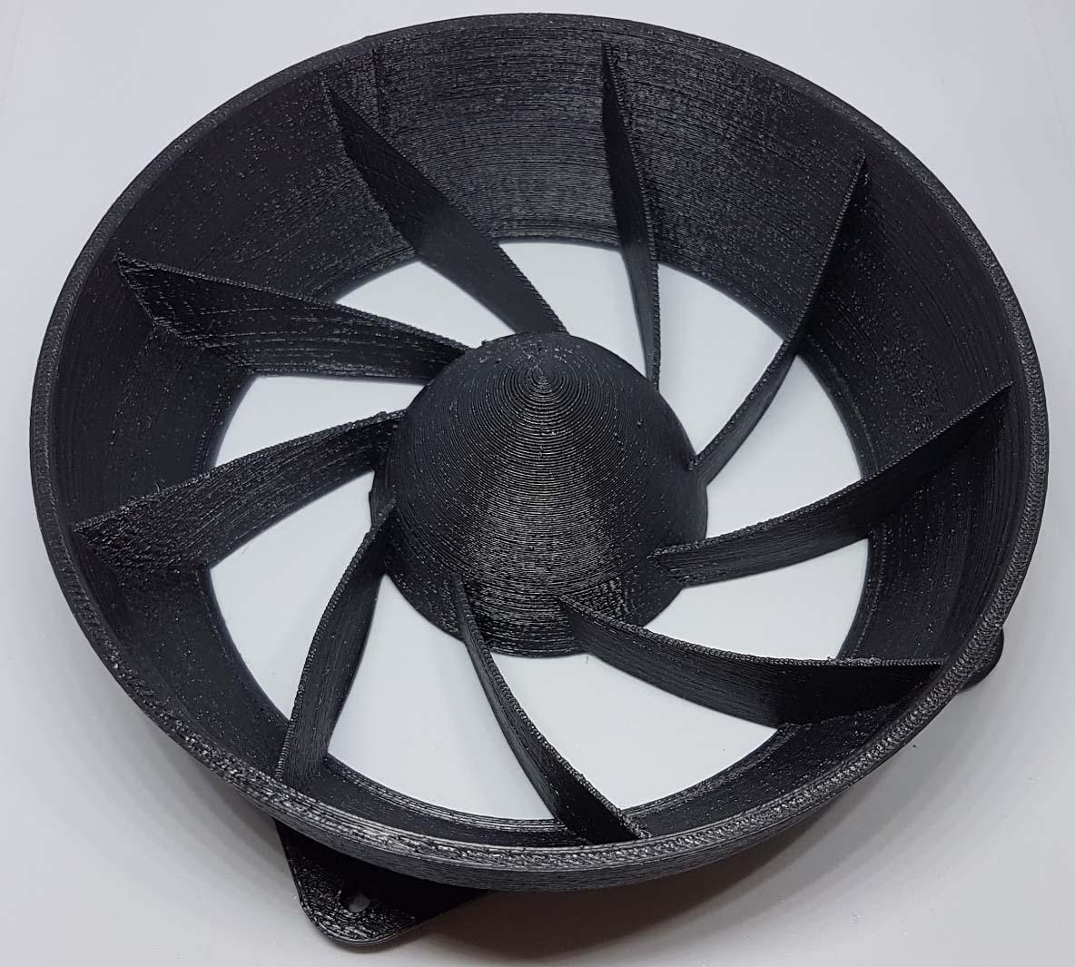 Antminer/Innosilicon 9 Vane Laminar Flow Fan Shroud for